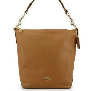 Coach Like New Abby Duffle In Saddle Leather
